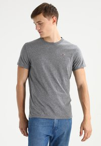 Hollister Co. - CREW CHAIN 3 PACK - T-shirt basique - white/grey/navy - 3