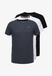 Hollister Co. - CREW CHAIN 3 PACK - Basic T-shirt - white - 5