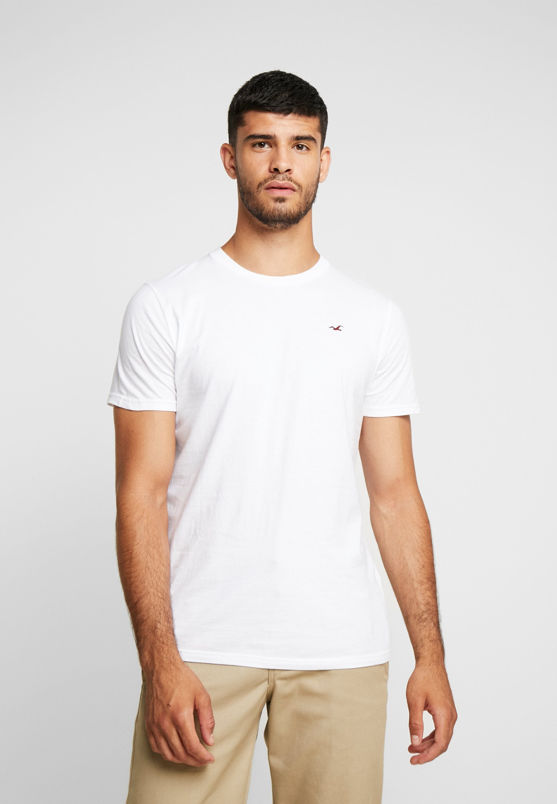 Hollister Co. CREW CHAIN 3 PACK - T-shirt basic - white