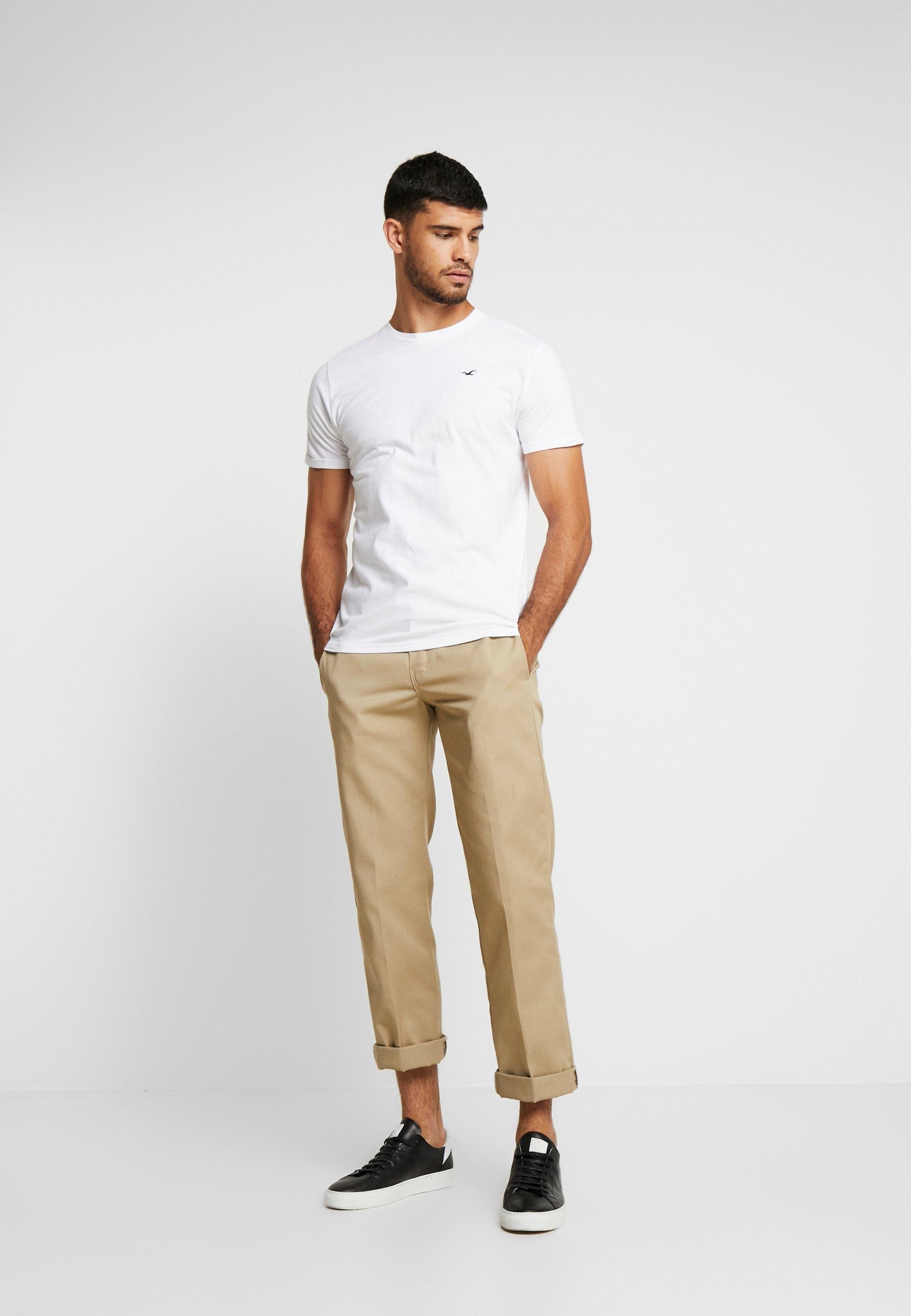 Hollister Co. CREW CHAIN 3 PACK - Camiseta básica white