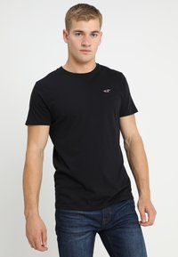 Hollister Co. - CREW CHAIN 3 PACK - T-shirt - bas - black - 1