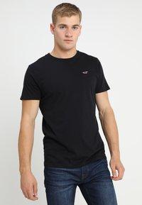 Hollister Co. - CREW CHAIN 3 PACK - Basic T-shirt - black - 1