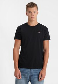 Hollister Co. - CREW CHAIN 3 PACK - T-shirt basic - black/white/grey - 4