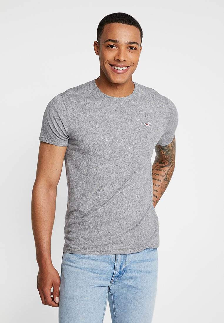 Hollister Co. - CREW CORP ICON - Basic T-shirt - grey