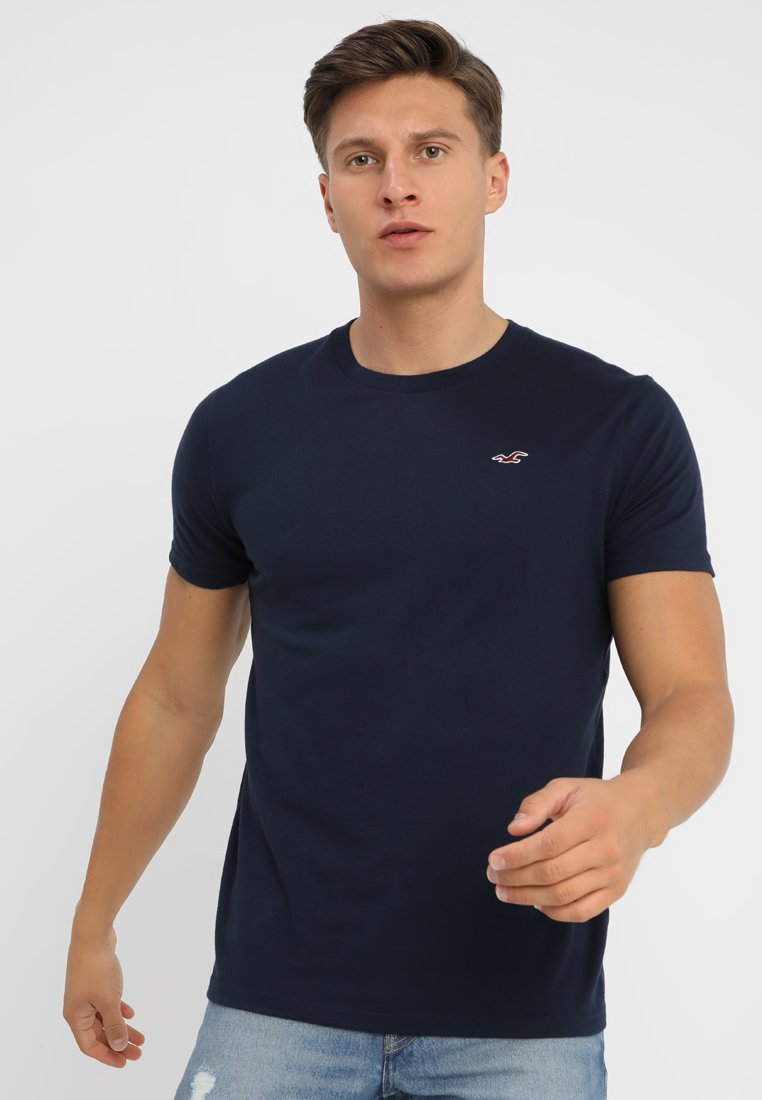 Hollister Co. - CREW CORP ICON - T-Shirt basic - navy