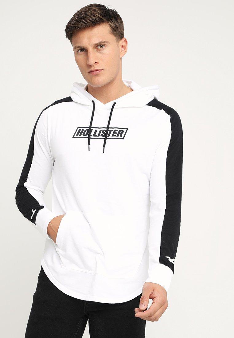 Hollister Co. - GRAPHIC HOOD - Langarmshirt - white/black