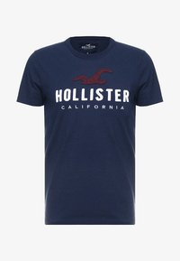 Hollister Co. - ICONIC TECH LOGO  - Print T-shirt - navy - 4
