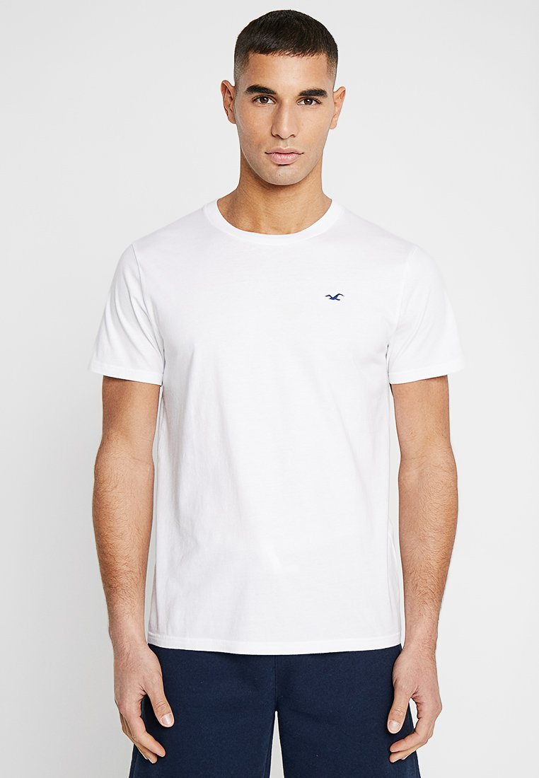 Hollister Co. - ICON VARIETY CREW - T-Shirt basic - white with blue icon