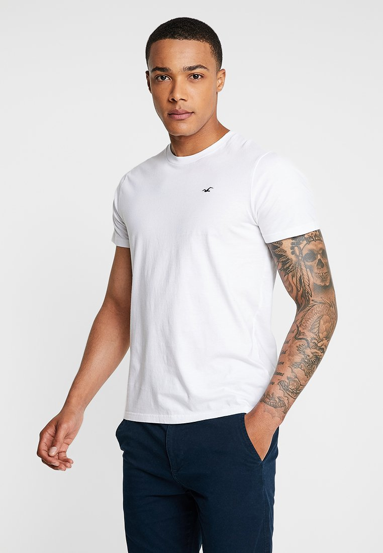 Hollister Co. - ICON VARIETY CREW - Basic T-shirt - white/black