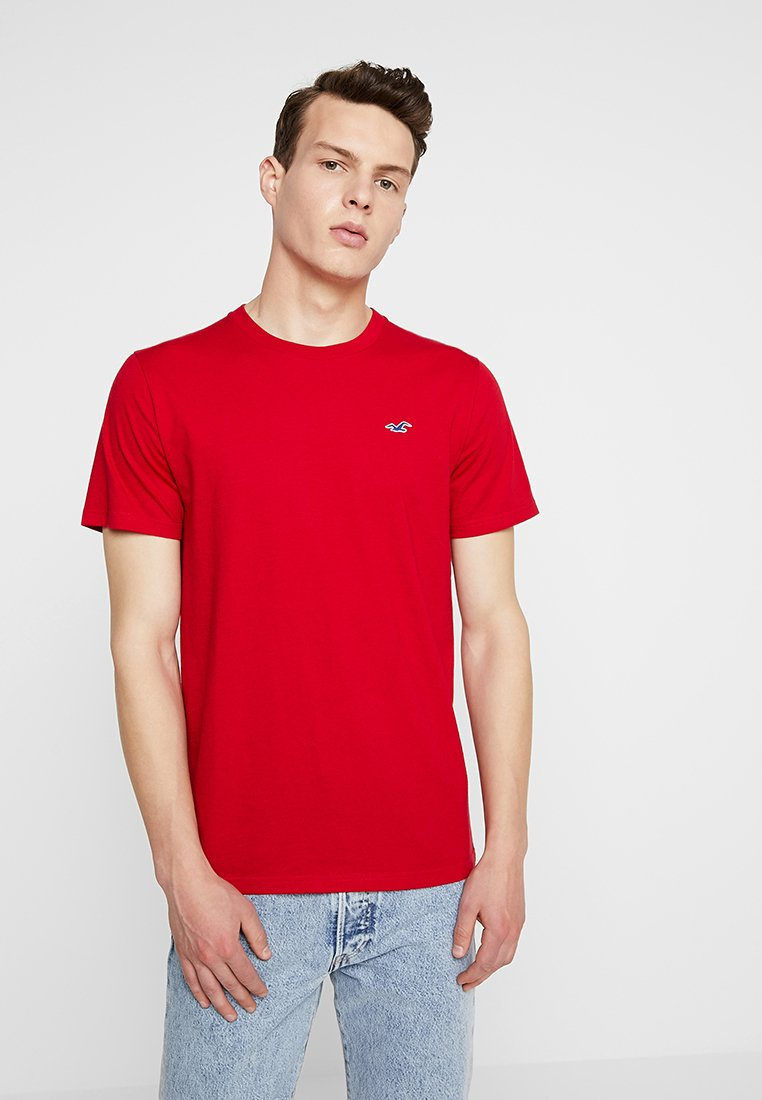 Hollister Co. - ICON VARIETY CREW - Basic T-shirt - red