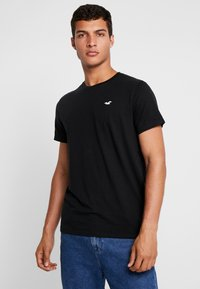 Hollister Co. - ICON VARIETY CREW - Camiseta básica - black/mint - 0
