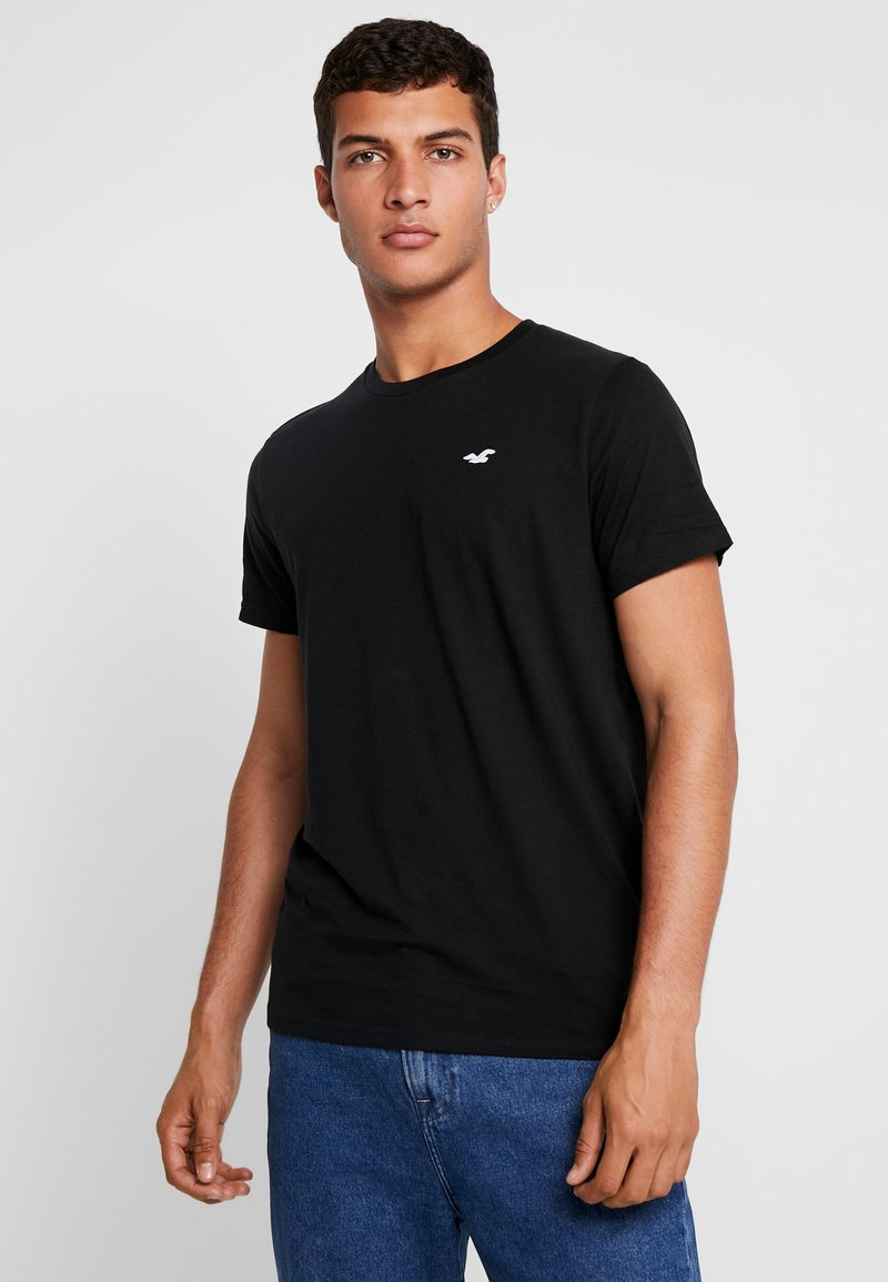 Hollister Co. - ICON VARIETY CREW - Camiseta básica - black/mint