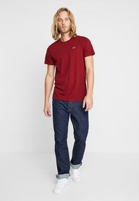 Hollister Co. - CORP ICON CREW - T-shirt imprimé - bordeaux - 1