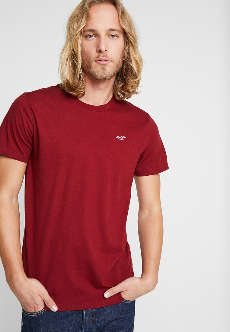 Hollister Co. - CORP ICON CREW - Camiseta estampada - bordeaux