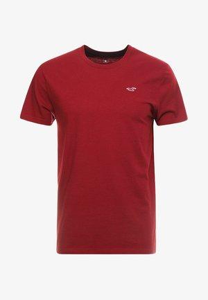 CORP ICON CREW - T-shirt imprimé - bordeaux