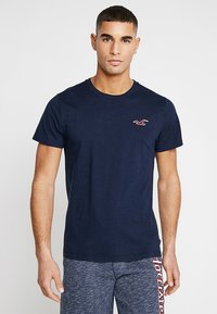 Hollister Co. - EXPLODED ICON CREW  - Camiseta básica - navy - 0