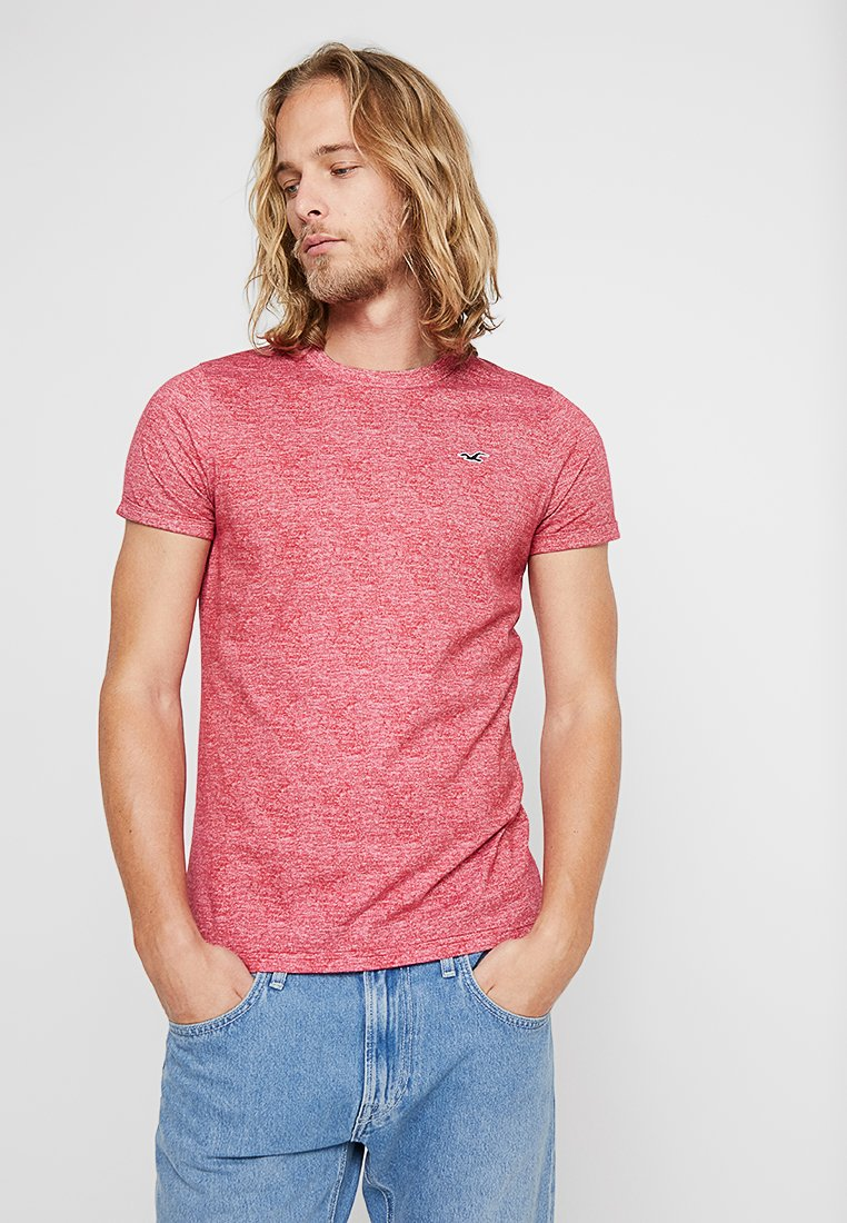 Hollister Co. - MUSCLE FIT CREW - T-Shirt basic - burgundy