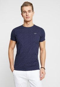 Hollister Co. - MUSCLE FIT CREW - Jednoduché triko - navy - 2