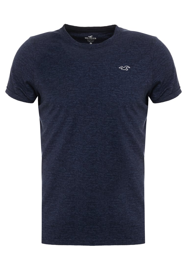Hollister Co. - MUSCLE FIT CREW - T-Shirt basic - navy