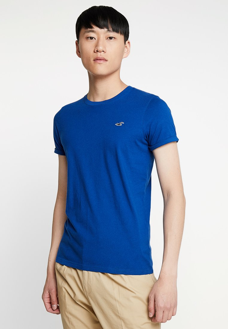 Hollister Co. - MUSCLE FIT CREW - T-shirt basic - cobalt