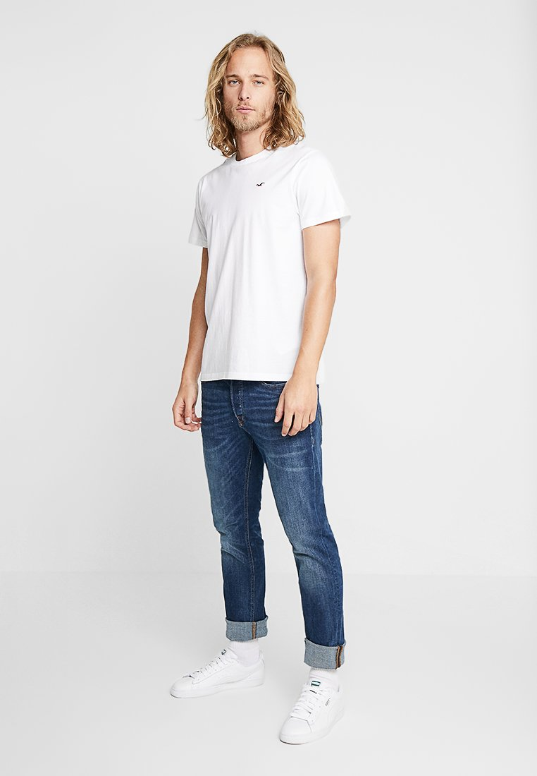 Hollister Co. - 3 PACK  - Print T-shirt - white/burgundy/navy