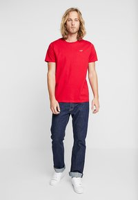 Hollister Co. - 5 PACK CREW  - Print T-shirt - white/grey/red/navy texture/black - 0