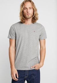 Hollister Co. - 5 PACK CREW  - Print T-shirt - white/grey/red/navy texture/black - 1
