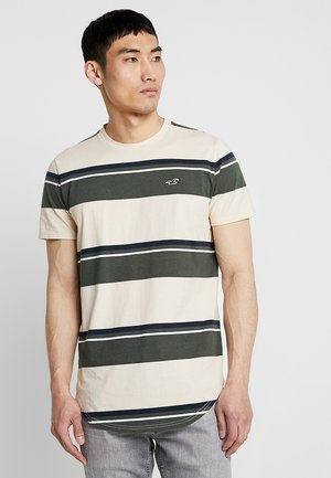 CURVED HEM - T-Shirt print - tan/green