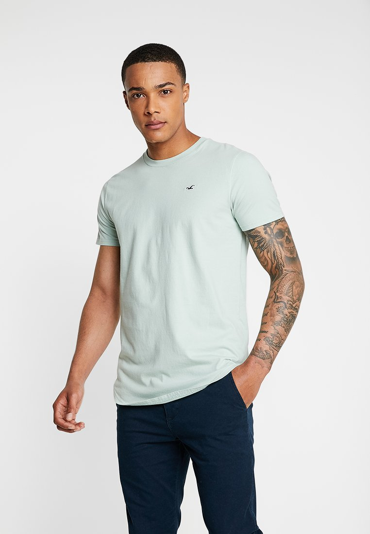 Hollister Co. - CURVED HEM - T-shirt basic - dark green