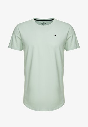 CURVED HEM - Jednoduché triko - dark green
