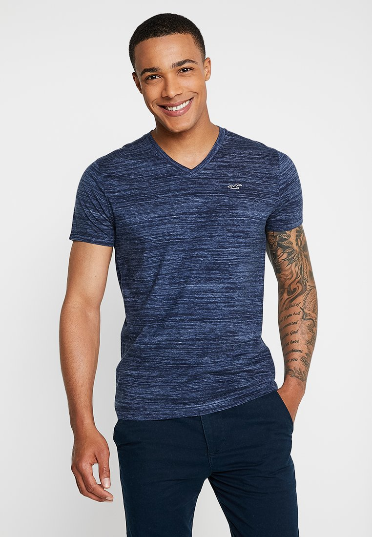 Hollister Co. - VEE - T-shirt imprimé - navy