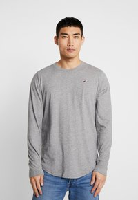 Hollister Co. - Long sleeved top - grey/white/navy - 1