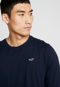 Hollister Co. - Long sleeved top - grey/white/navy - 3