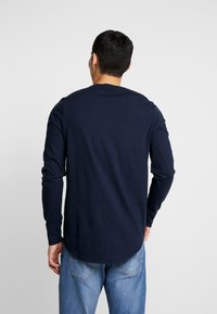 Hollister Co. - Long sleeved top - grey/white/navy - 2