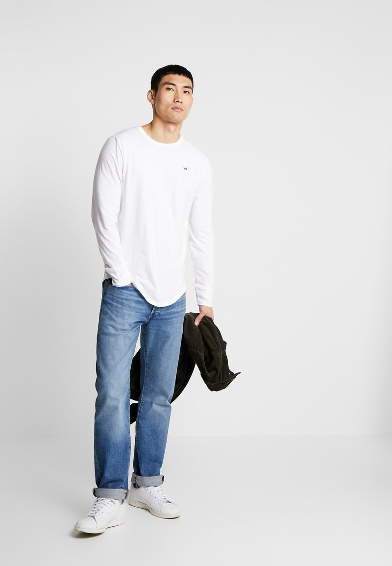 Hollister Co. - Long sleeved top - grey/white/navy