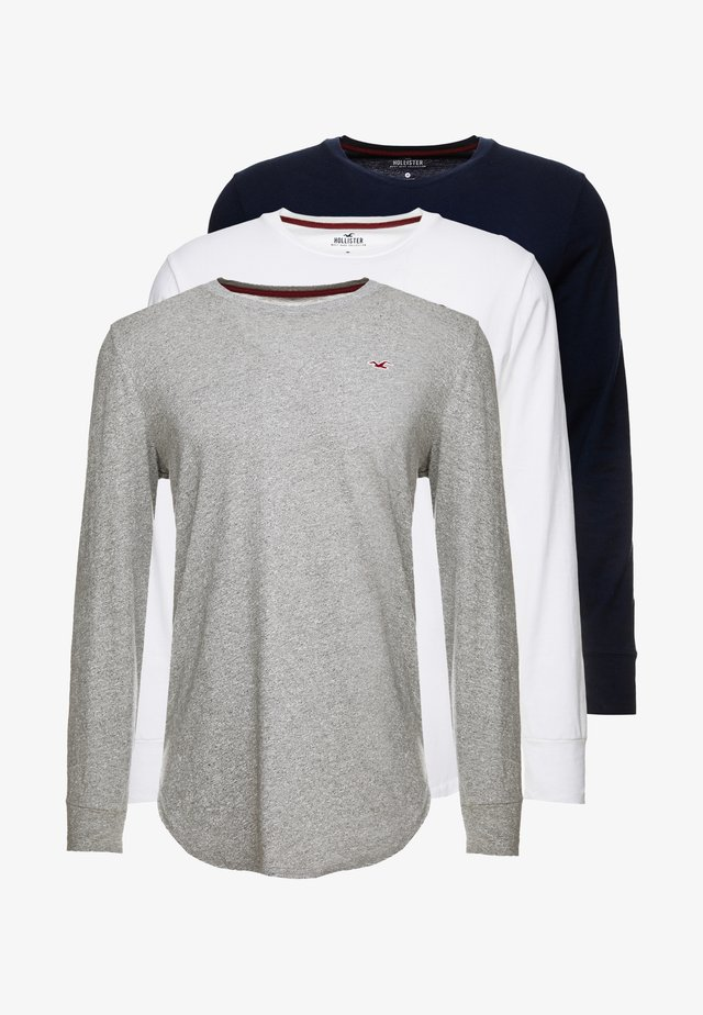 Long sleeved top - grey/white/navy