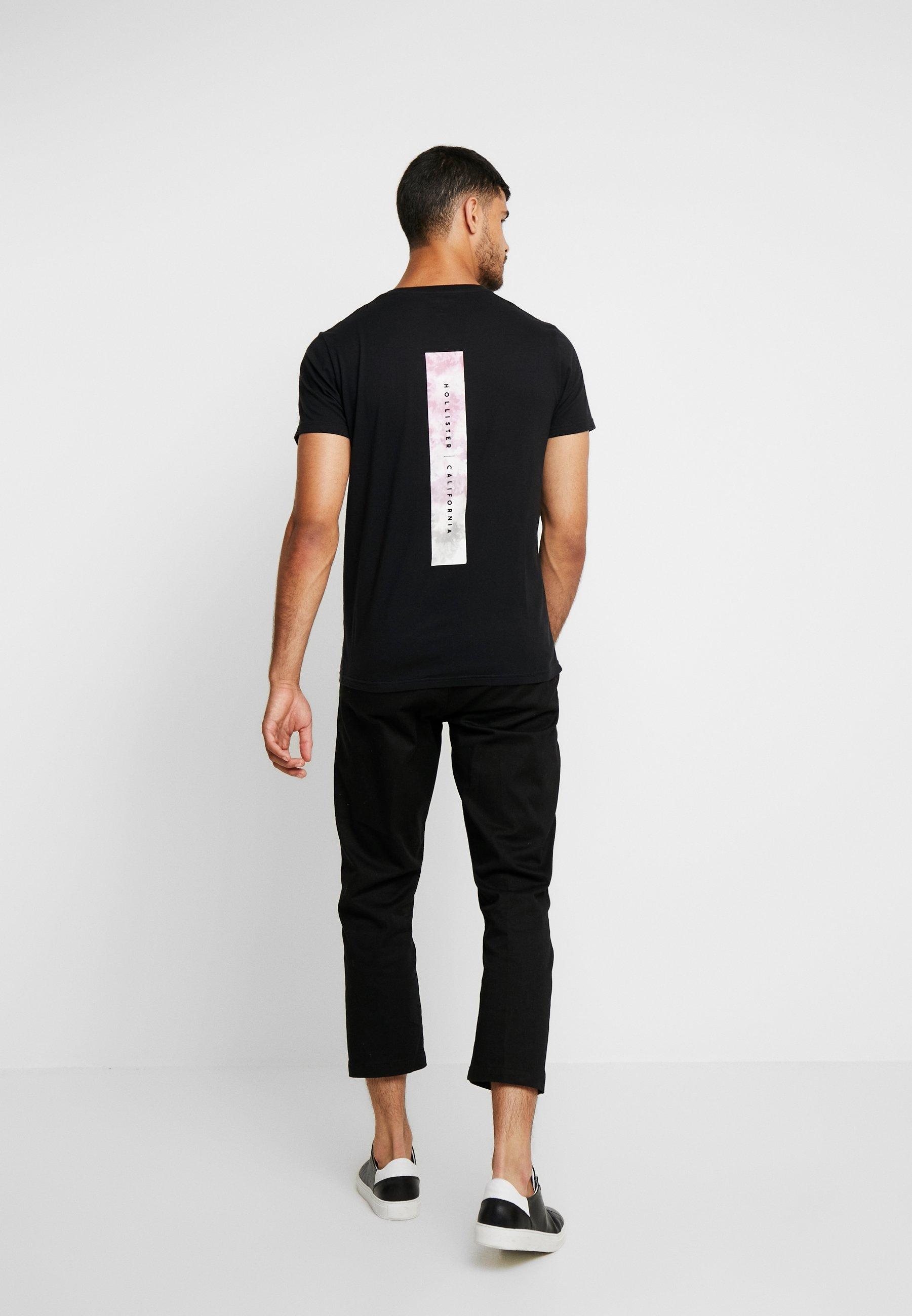 CoWide BoxT shirt Imprimé Hollister Black 2IEDH9