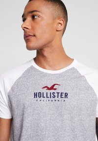 Hollister Co. - COLORBLOCK CORE TECH LOGO  - Triko spotiskem - grey - 4