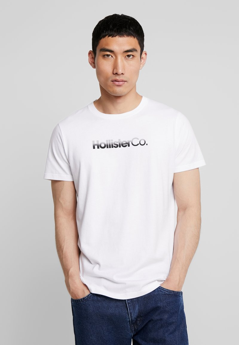 Hollister Co. - OMBRE - T-shirt con stampa - white