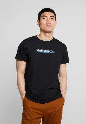OMBRE - T-shirt z nadrukiem - black