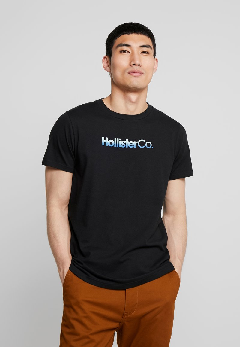 Hollister Co. - OMBRE - T-shirt imprimé - black