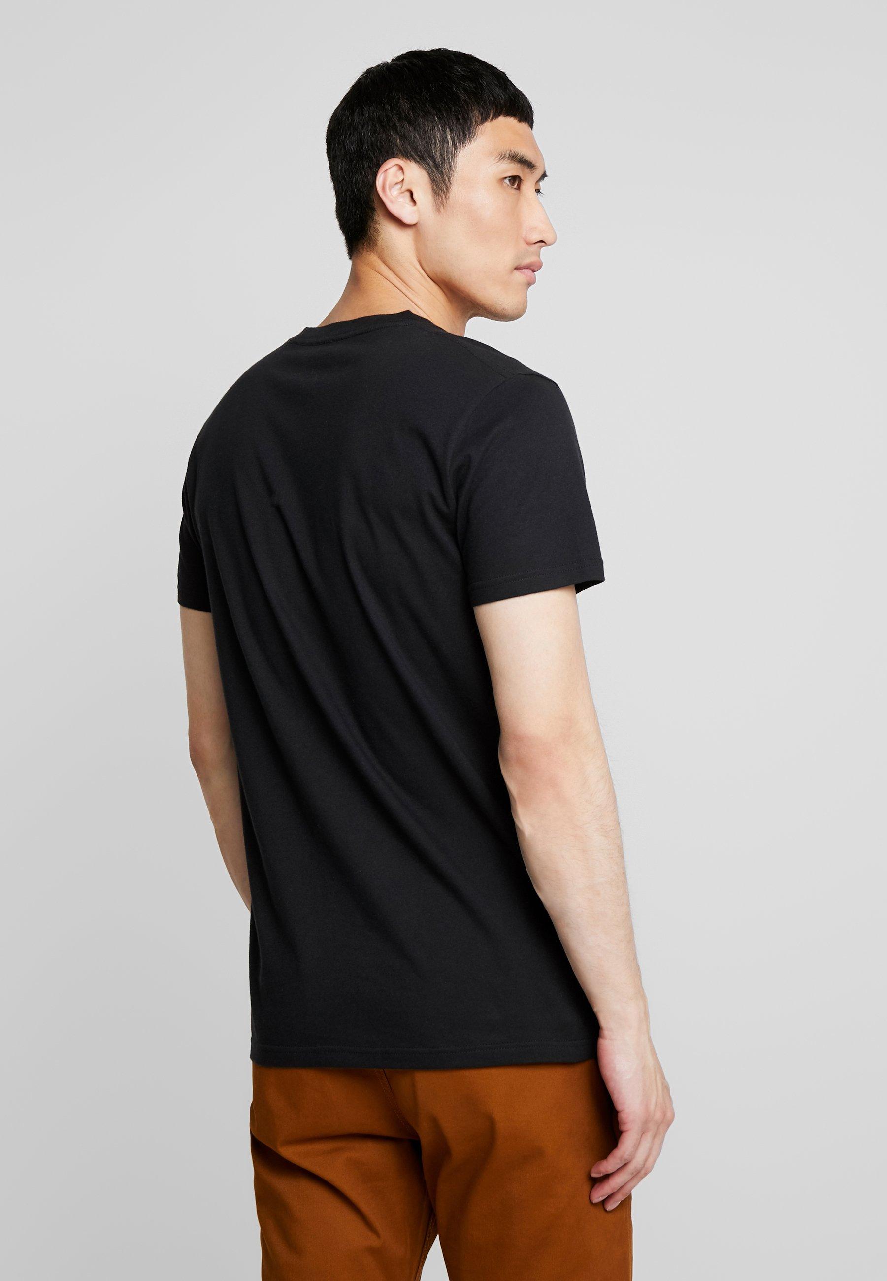 Hollister Co. OMBRE LOGO T shirt imprimé whitenavy