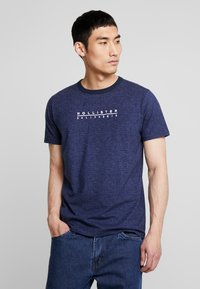Hollister Co. - PRINT LOGO - Camiseta estampada - blue - 0