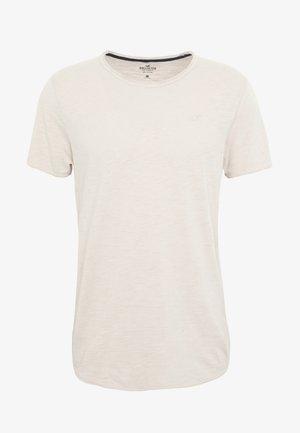 CURVED HEM - Basic T-shirt - tan