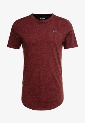 CURVED HEM - Camiseta básica - burg