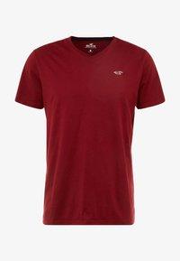 Hollister Co. - ICON VARIETY  - Basic T-shirt - bordeaux - 4