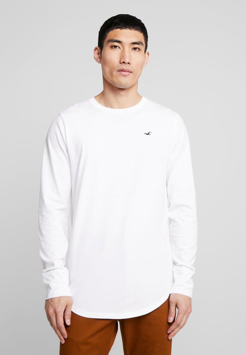 Hollister Co. - CURVED HEM CREW  - Langarmshirt - white