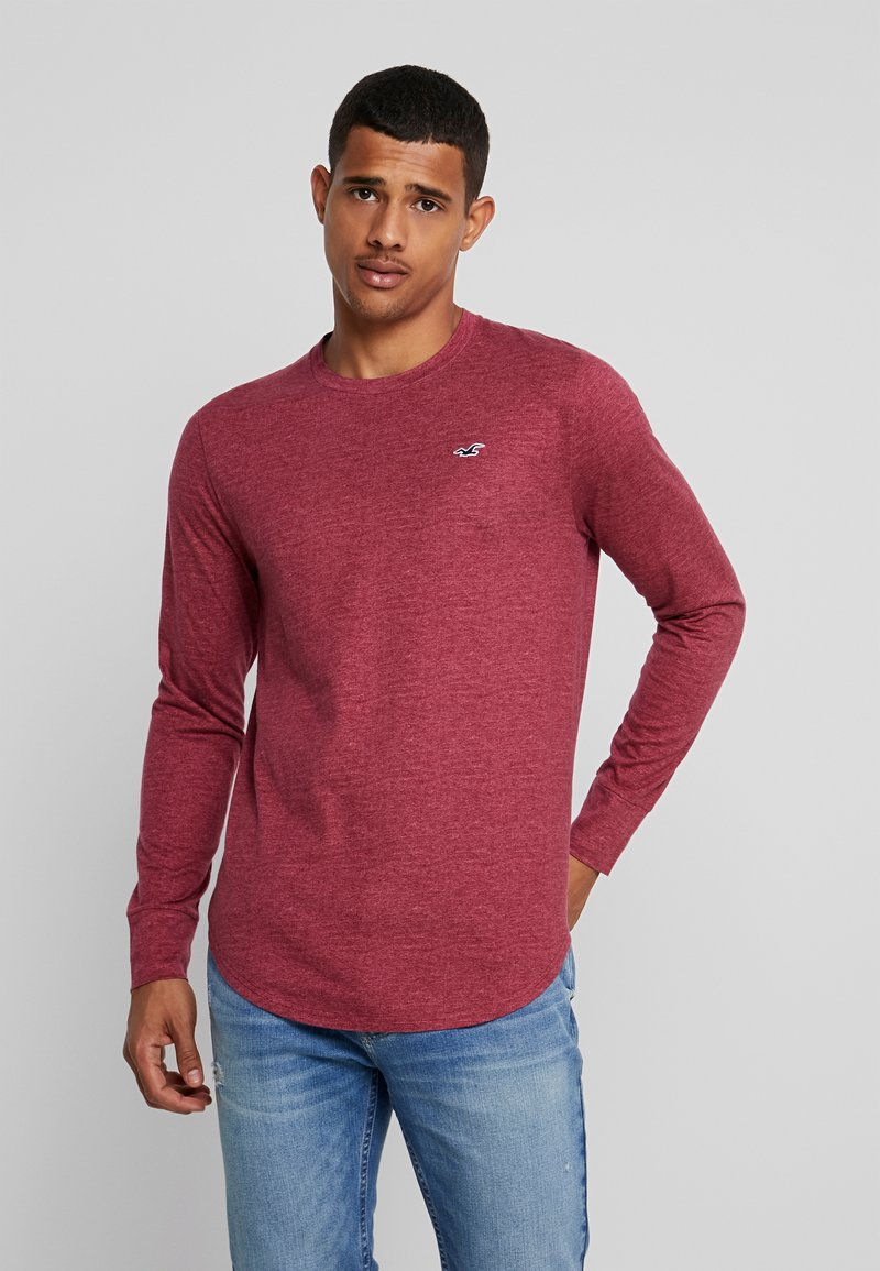 Hollister Co. - CURVED HEM CREW  - Camiseta de manga larga - burg