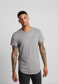 Hollister Co. - 3 PACK - T-shirt basic - white/ grey /black - 2