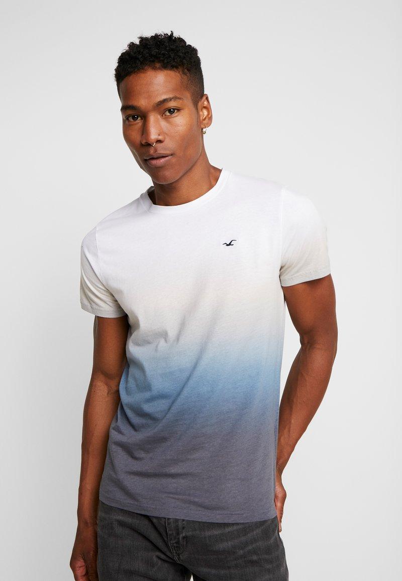 Hollister Co. - CREW OMBRE  - Print T-shirt - med blue